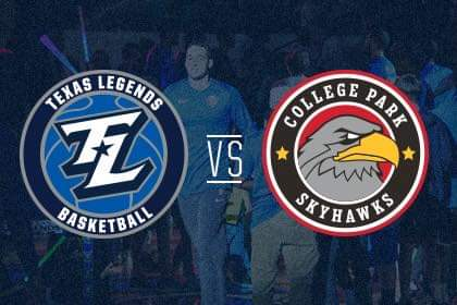 Sunday, Jan 26th the Texas Legends take on the CP Skyhawks